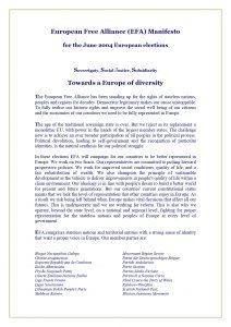EFA Manifesto - 2004