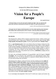 EFA Manifesto - 2009