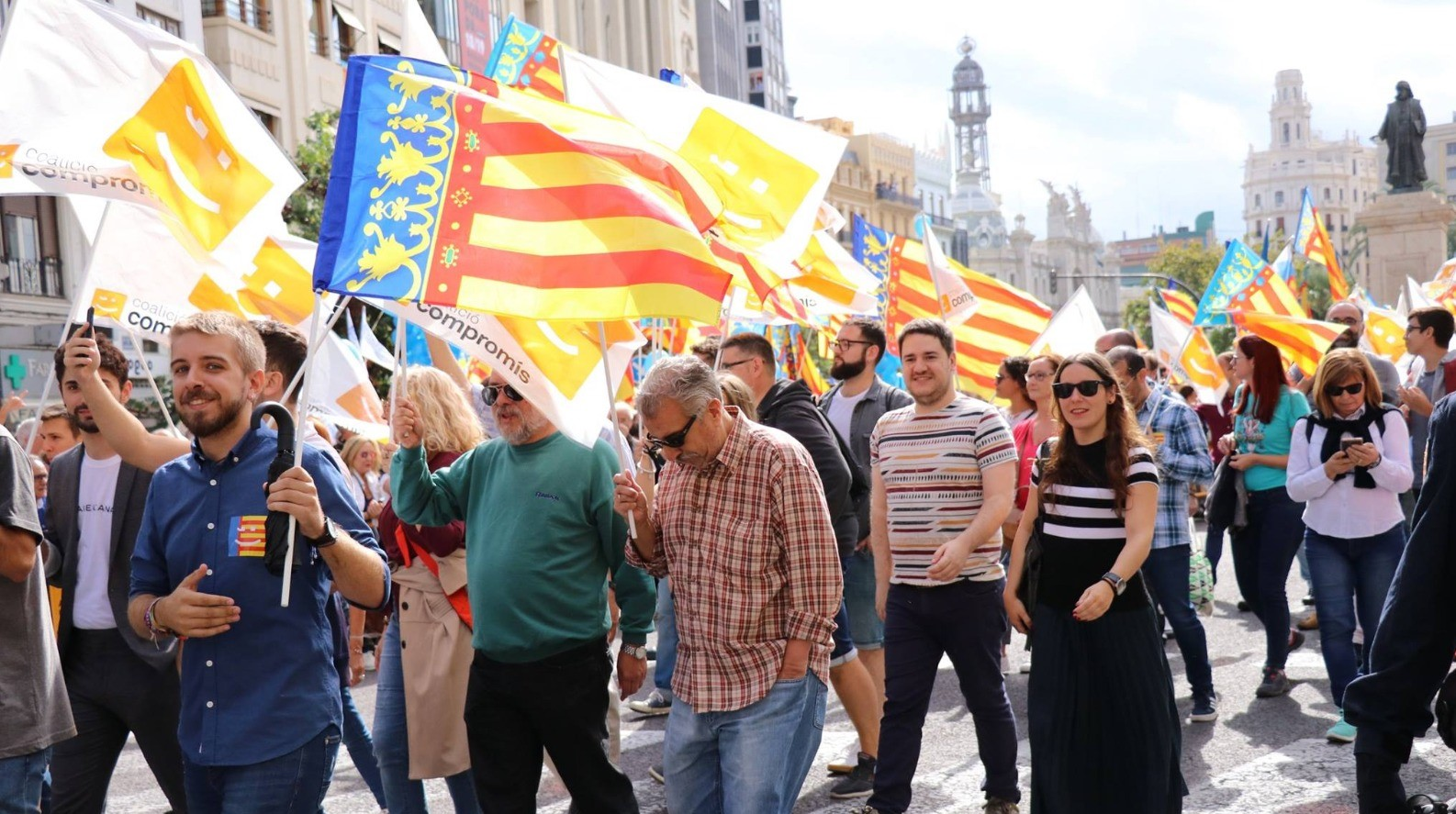 Valencian National Day: Bloc calls for a green transition towards a socially cohesive country