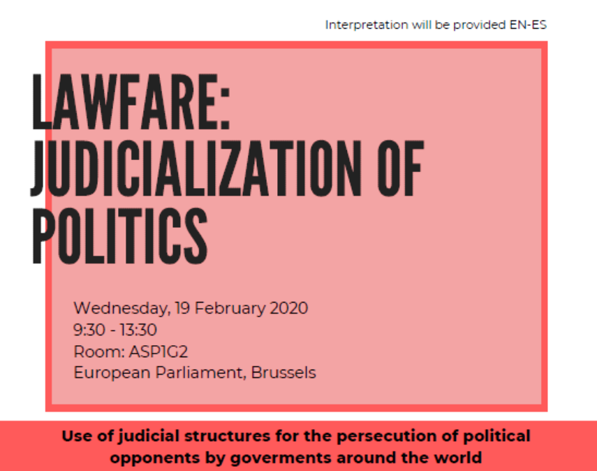 'Lawfare: Judicialisation of politics' high-level conference at the EP