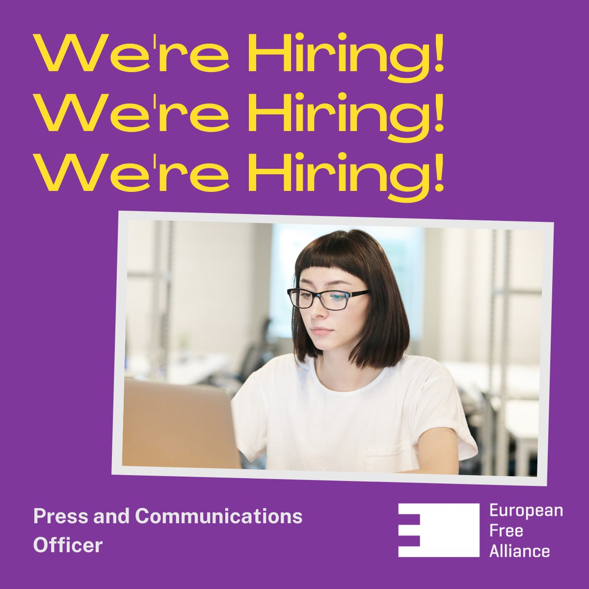 We are hiring: Press and Communications Officer
