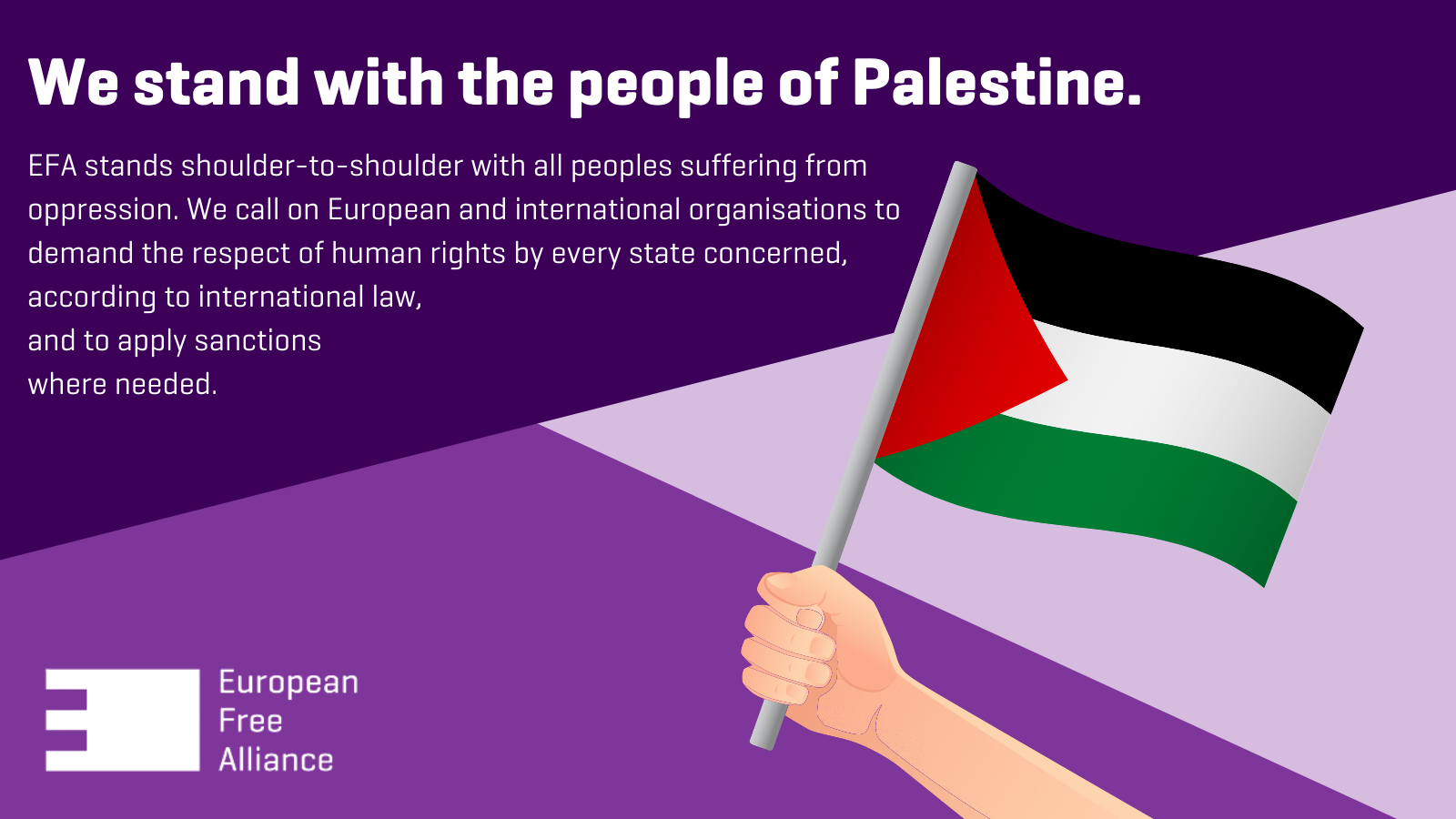EFA Press Release on Israeli Attacks on the Palestinian People